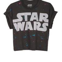 Splatter Star Wars Crop Tee