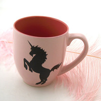 Personalized Mug Pink Unicorn Mug Can be Personalized by LennyMud