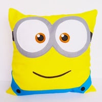 Despicable Me 2 Minion twoeyed cushion COVER  16x16 by AdreneSews