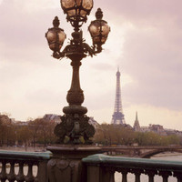 The Eiffel Tower Seen from the Pont Alexandre III at Dusk, Paris, France Photographic Print by Nigel Francis at AllPosters.com