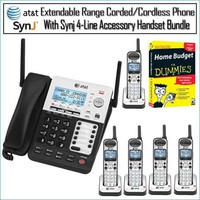 ATT SB67118 4-Line Extendable Range Corded-Cordless Small Business Phone System (2)