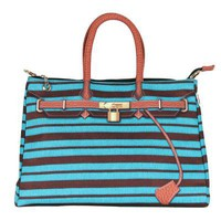 Printed Stripe and Jute Grain Totes
