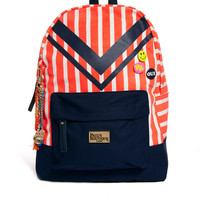 Pauls Boutique | Paul's Boutique Libby Striped Backpack With Badges at ASOS