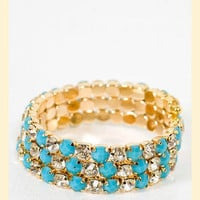 Dazzling Coil Bracelet                    - Francesca's Collections