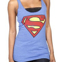 DC Comics Superman Logo Girls Tank Top