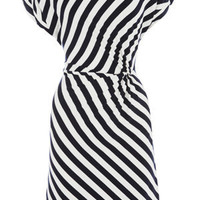 Oasis Shop |  Multi Black Stripe Twist Dress | Womens Fashion Clothing | Oasis Stores UK