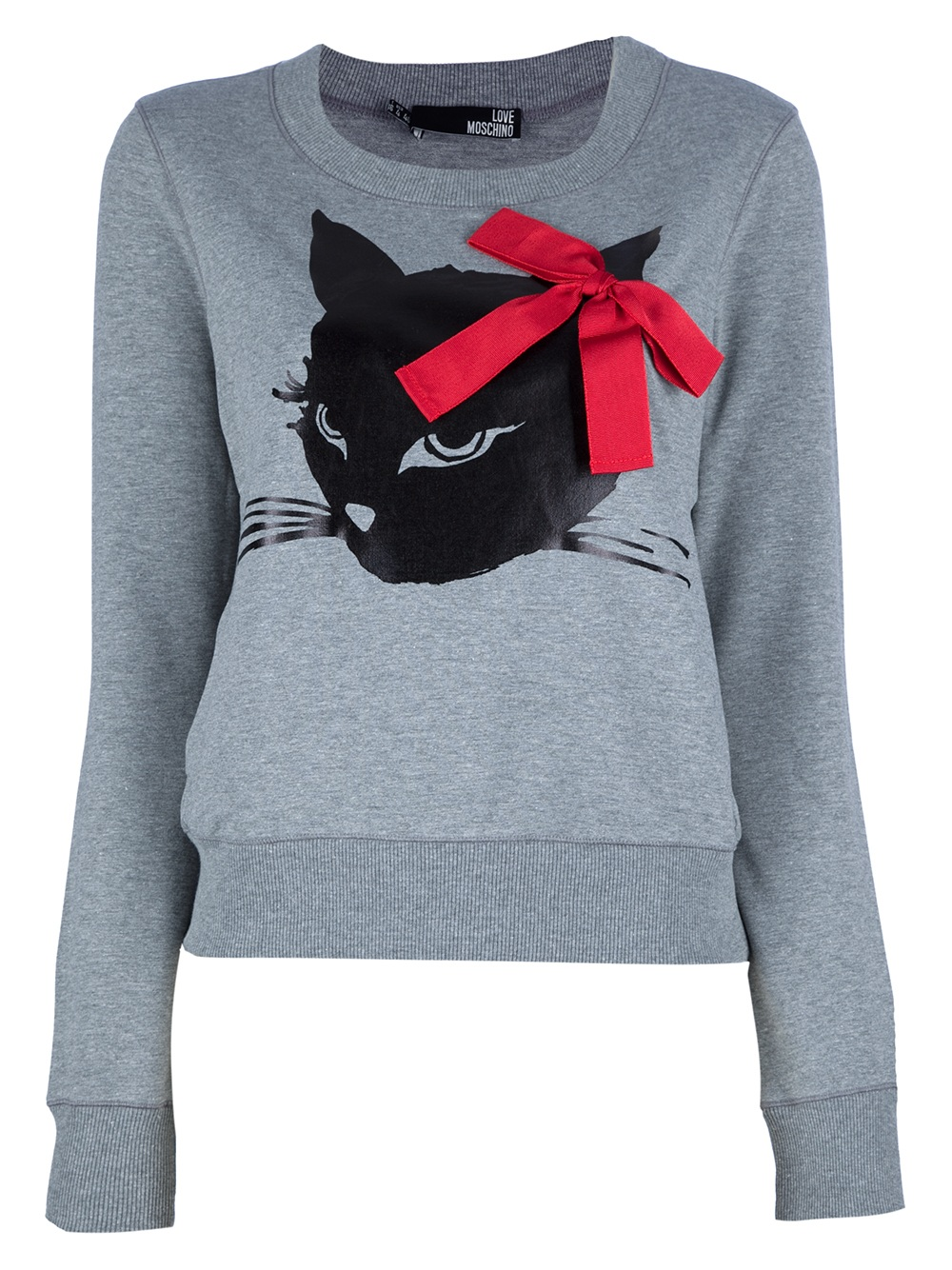 love moschino cat print sweater from farfetch. Black Bedroom Furniture Sets. Home Design Ideas