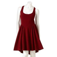 Eyelash Textured Racerback Skater Dress - Juniors