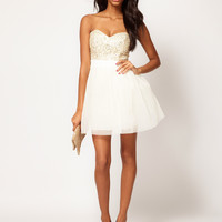 Lipsy VIP | Lipsy VIP Embellished Bust Prom Dress at ASOS