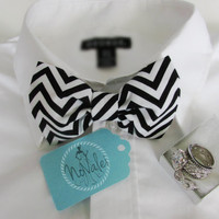"The ""Chevron"" Clip on Bow Tie  - Mens- Unisex- Groom, Groomsmen, Ring Bearer , Formal, Prom"