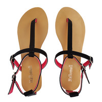 Summers Leather Flat Sandals