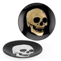 Morton Skull Appetizer Plate - Sets of 4 | Serveware | Tabletop-and-bar | Z Gallerie