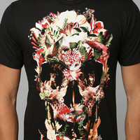 Society 6 Jungle Skull Tee- Black