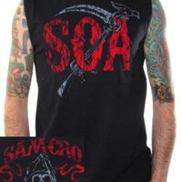 Sons Of Anarchy Muscle Shirt - Crow Wings