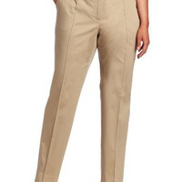 AK Anne Klein Women's Plus-size Sateen Pintuck Slim Pant