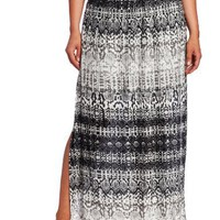 Kenneth Cole Women's Plus-Size Python Stripe Micro Pleated Maxi Skirt