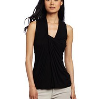 Three Dots Women's Draped Front Top
