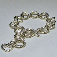 Sterling Silver Bracelet chain Link Mobious Flower | LaraJordanJewelry - Jewelry on ArtFire