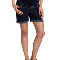 Three Seasons Maternity Women's Maternity Denim Roll Cuff Short