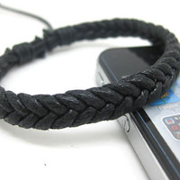 Men and Women Simple Braided Rope Cuff Bracelet Adustable 