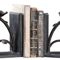 Bird Branch Bookends - Set of 2 - Bookends -  Home Accents -  Home Decor | HomeDecorators.com