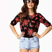 Rose Pattern Sweater | FOREVER 21 - 2059021591