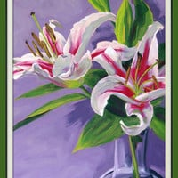 Floral art giclee print from an original oil by FinnellFineArt