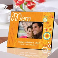 Personalized Sunshine and Flowers Picture Frame