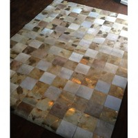 NEW! Midas Touch Hide Giant Patchwork Rug|Rugs  Hides|Rugs and Accessories|French Bedroom Company