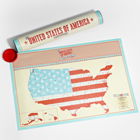 USA Scratch Map Travel Edition