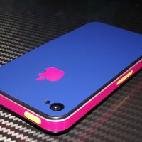 iPhone 4 - 4S Blue Art Skins Wrap Full Guard Buy Any 2 Get 1 Gift | Skinstronic - Techcraft on ArtFire