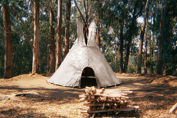 $425.00 Hand made 16 foot Cheyenne style teepee Door and bag by AhKiTiPi