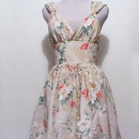 One Of a kind Elegant Romantic Floral Dress by katherinelkerrison