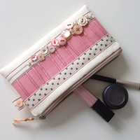 Vintage Button Make-Up Purse | Luulla