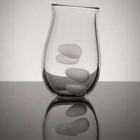 Hoppy Beer Glass, Universal Cut, Finger Prints