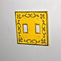 Yellow Decorative Fleur De Lis Light Switch Plate by Aqua Xpressions