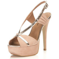 Harper Pink Fan High Sandal - Shoes - Miss Selfridge