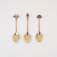 London Souvenir Spoons / Bridge Crown Coach London Souvenir Spoons / Great Britain Silver Plated Souvenir Spoons