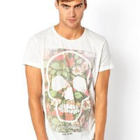 Jack & Jones | Jack & Jones T-Shirt With Floral Skull Print at ASOS