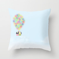 Up Disney Movie Throw Pillow by Tati