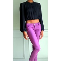 Alison Peters Cropped Blouse - ColetteClayton.com