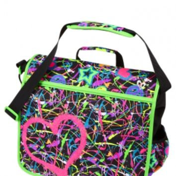 Glitter Graffiti Messenger Bag | Girls Backpacks & School Supplies ...