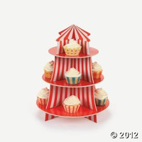 Big Top Cupcake Holder, Cake Decorating Supplies, Party Decorations, Party Themes & Events - Oriental Trading