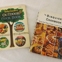Vintage Betty Crocker Cookbooks  Outdoor and Bisquick