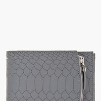 Maison Martin Margiela Matte Grey Python Tri-fold Zip Wallet for men | SSENSE