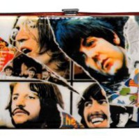 Amazon.com: The Beatles Printed Metallic Clippings Ladies Hinge Wallet: Penny Lane Gifts