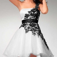 2013 One-shoulder Sexy Mini Short Evening Dress Prom Formal Ball Dress Cocktail Prom Dress