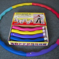 Weighted Sports Hula Hoop for Weight Loss - Acu Hoop 3L - 3 lb. large