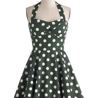 Traveling Cupcake Truck Dress in Olive | Mod Retro Vintage Dresses | ModCloth.com