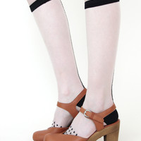 Rachel Comey/Hansel from Basel Dotted Knee Socks - Black « Pour Porter